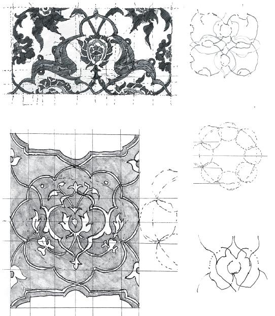 RG - Dibujo Arabesco 2008 . Técnica: lápiz de tinta 0.5 negro y lápiz grafito 2B sobre papel bond. Noviembre 2008.