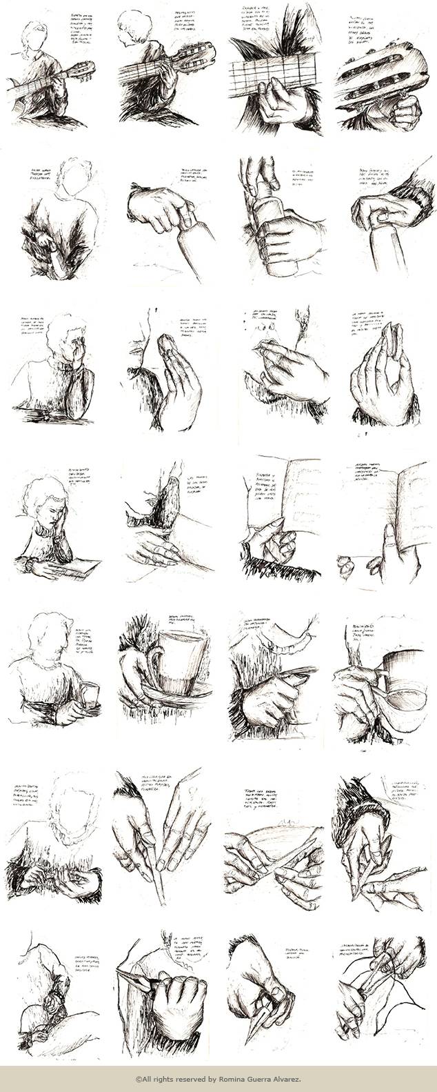 RG - Estudio manos - ©Todos los derechos reservados por Romina Guerra Alvarez.