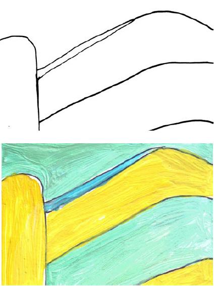 RG - reproducción van gogh - la silla de vincent en arles - por romina guerra en pintura acrílica - DETALLE Y ESTUDIO - 04
