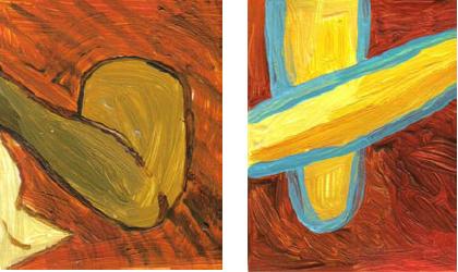 RG - reproducción van gogh - la silla de vincent en arles - por romina guerra en pintura acrílica - DETALLE Y ESTUDIO - 05