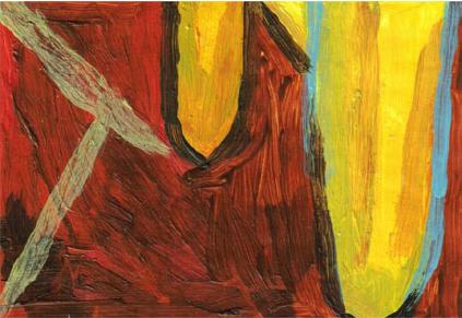 RG - reproducción van gogh - la silla de vincent en arles - por romina guerra en pintura acrílica - DETALLE Y ESTUDIO - 07