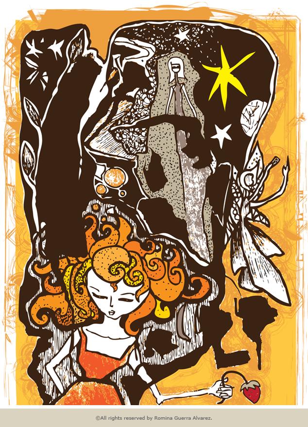 RG - Dibujo Noche Amarilla por Romina Guerra - ©Todos los derechos reservados por Romina Guerra Alvarez.