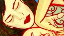 RG - Autorretrato Manos y Arabescos por Romina Guerra - ©Todos los derechos reservados por Romina Guerra Alvarez.