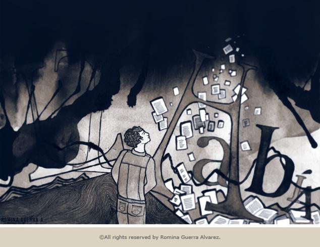 RG - Ilustración La Altura por Romina Guerra - ©Todos los derechos reservados por Romina Guerra Alvarez.