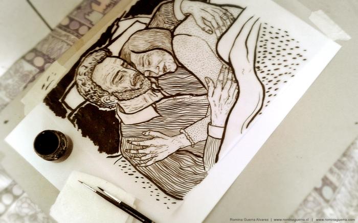 RG - Dibujo abuelos afiche 2015 - por Romina Guerra - ©Todos los derechos reservados por Romina Guerra Alvarez. (2) copy